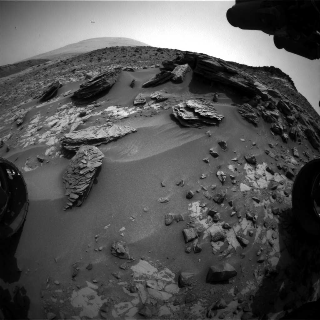 Nasa's Mars rover Curiosity acquired this image using its Front Hazard Avoidance Camera (Front Hazcam) on Sol 861, at drive 2414, site number 44