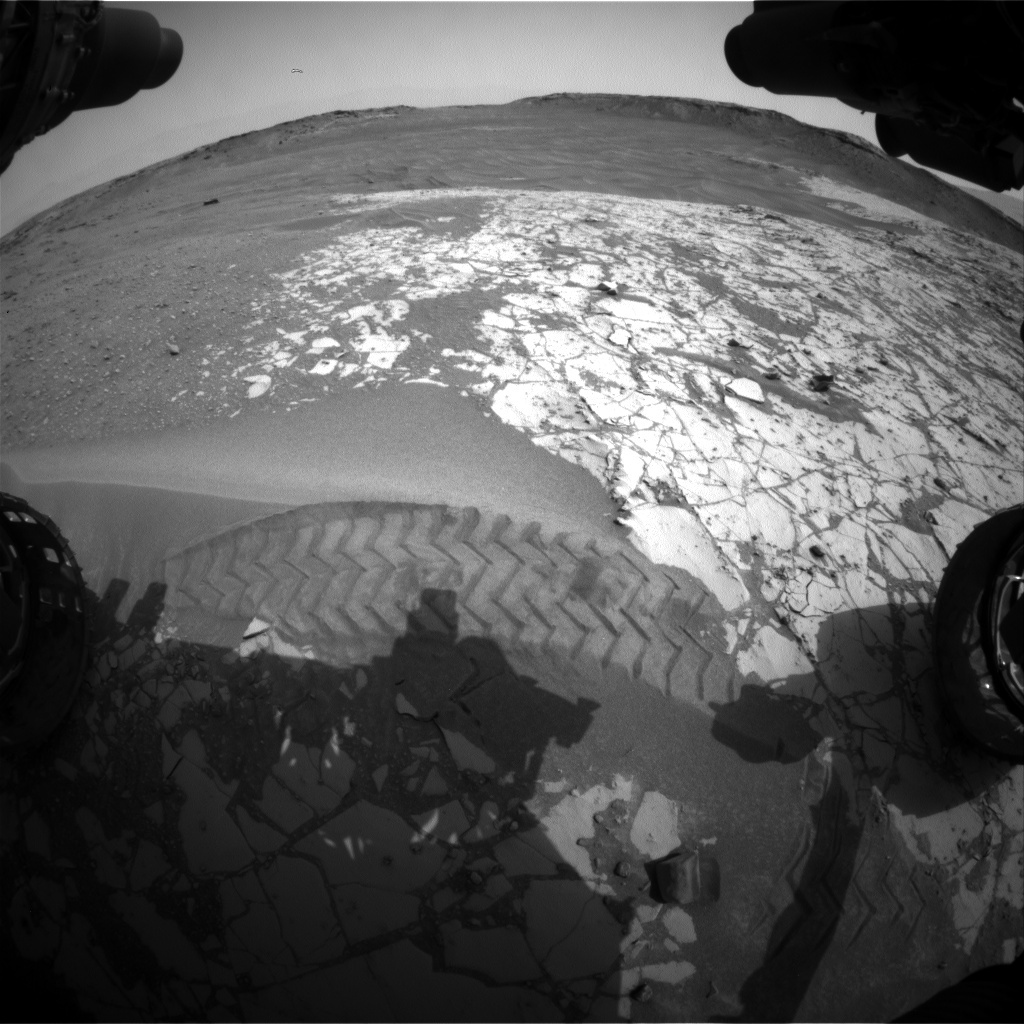 NASA's Mars rover Curiosity acquired this image using its Front Hazard Avoidance Cameras (Front Hazcams) on Sol 864