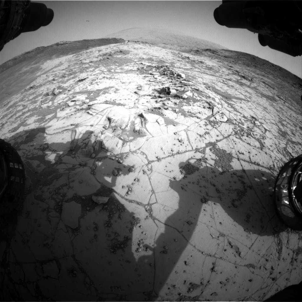 Nasa's Mars rover Curiosity acquired this image using its Front Hazard Avoidance Camera (Front Hazcam) on Sol 864, at drive 0, site number 45