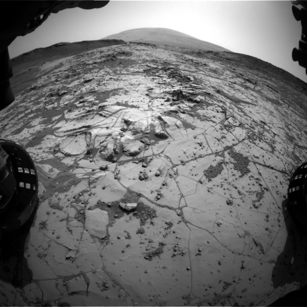 Nasa's Mars rover Curiosity acquired this image using its Front Hazard Avoidance Camera (Front Hazcam) on Sol 866, at drive 0, site number 45