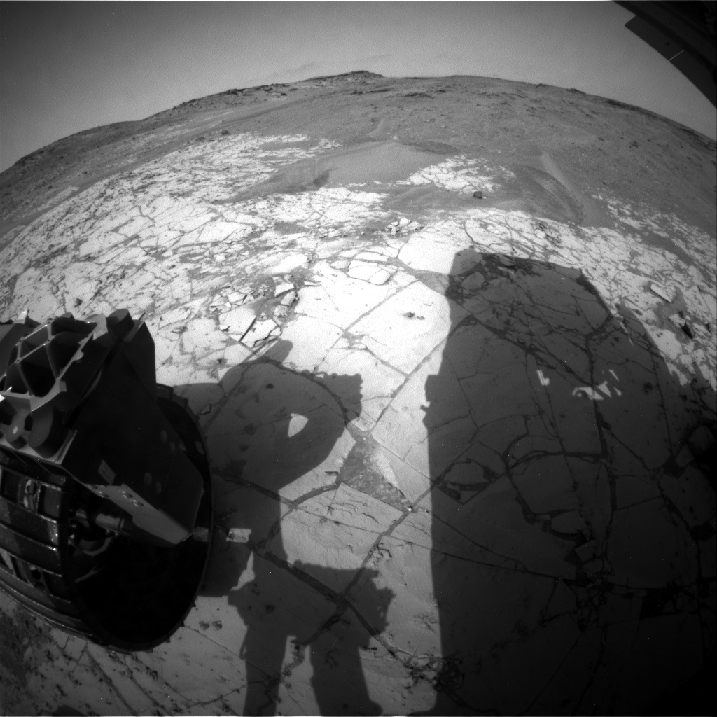 NASA's Mars rover Curiosity acquired this image using its Rear Hazard Avoidance Cameras (Rear Hazcams) on Sol 866