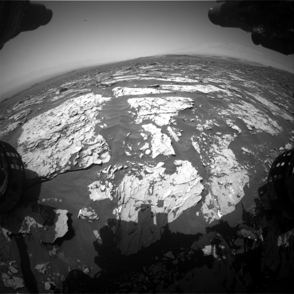 Nasa's Mars rover Curiosity acquired this image using its Front Hazard Avoidance Camera (Front Hazcam) on Sol 1752, at drive 2238, site number 64