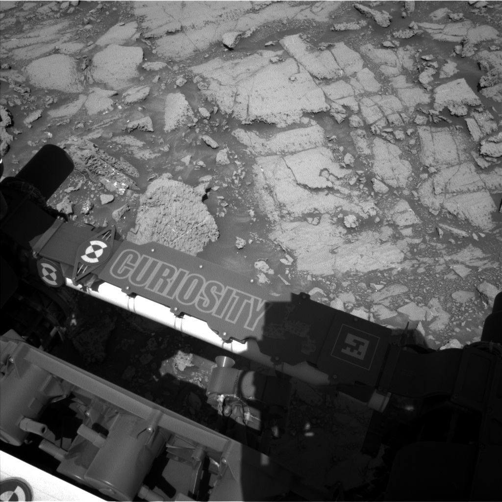 Nasa's Mars rover Curiosity acquired this image using its Left Navigation Camera on Sol 1837, at drive 1332, site number 66