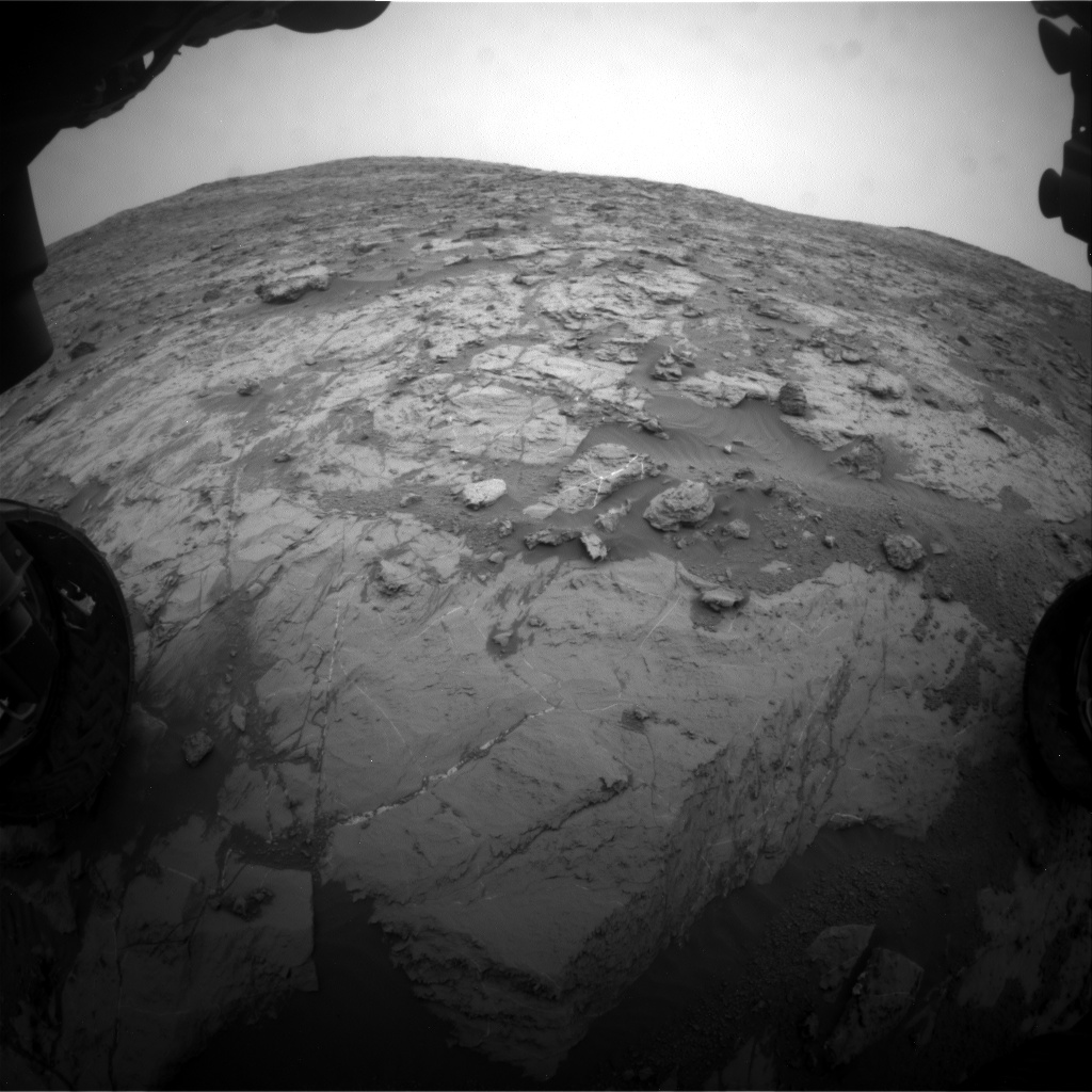 Nasa's Mars rover Curiosity acquired this image using its Front Hazard Avoidance Camera (Front Hazcam) on Sol 2097, at drive 1330, site number 71