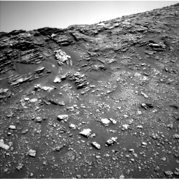 Nasa's Mars rover Curiosity acquired this image using its Left Navigation Camera on Sol 2475, at drive 2576, site number 76