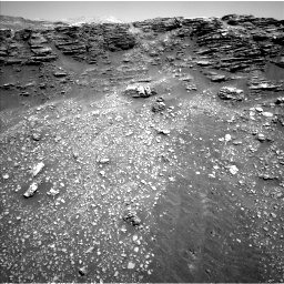 Nasa's Mars rover Curiosity acquired this image using its Left Navigation Camera on Sol 2477, at drive 2696, site number 76