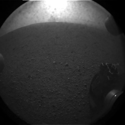 NASA's Mars rover Curiosity acquired this image using its Rear Hazard Avoidance Cameras (Rear Hazcams) on Sol 0
