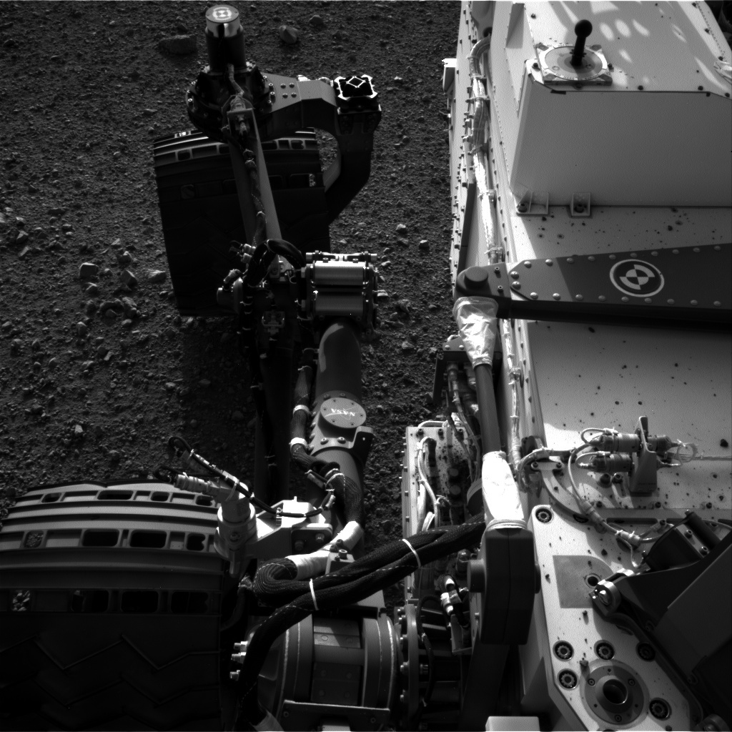 NASA's Mars rover Curiosity acquired this image using its Left Navigation Camera (Navcams) on Sol 2