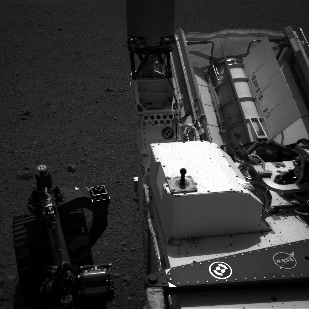 NASA's Mars rover Curiosity acquired this image using its Left Navigation Camera (Navcams) on Sol 10