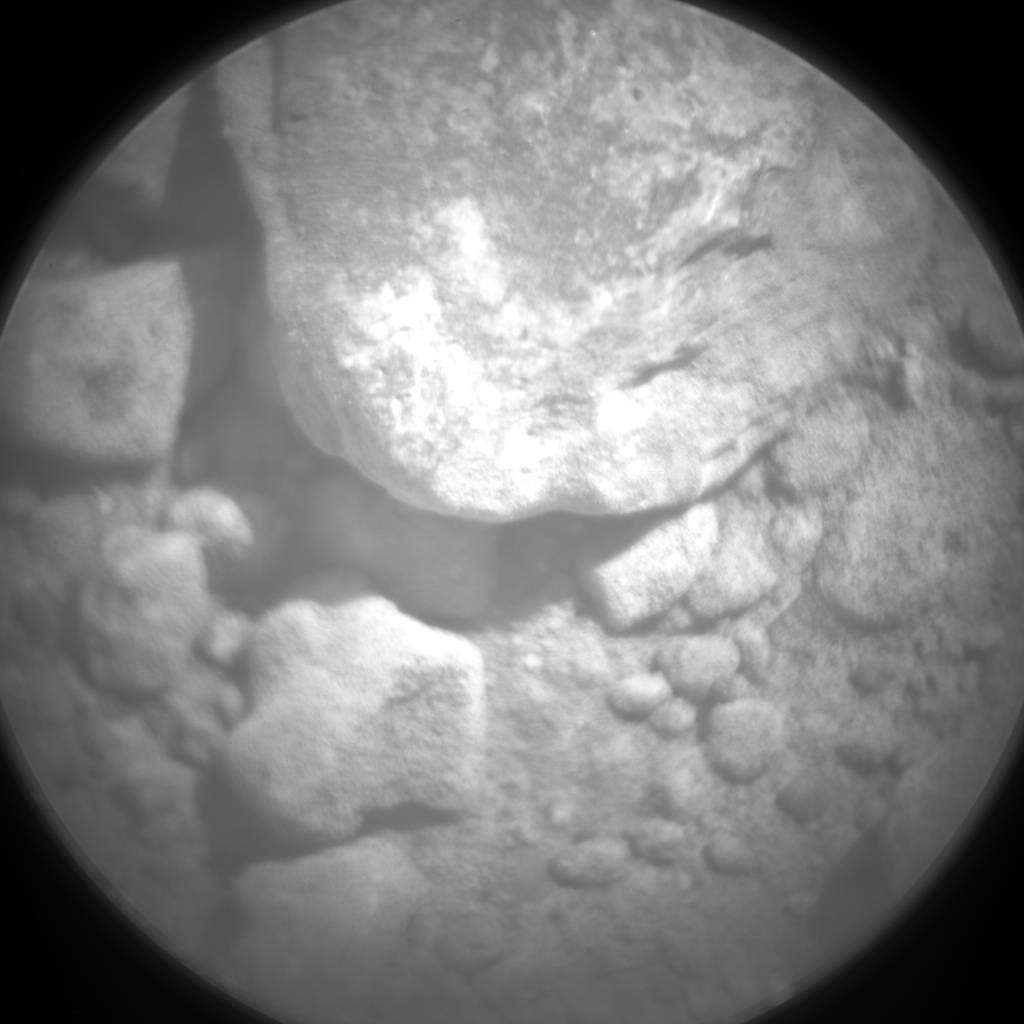 Nasa's Mars rover Curiosity acquired this image using its Chemistry & Camera (ChemCam) on Sol 13, at drive 4, site number 3