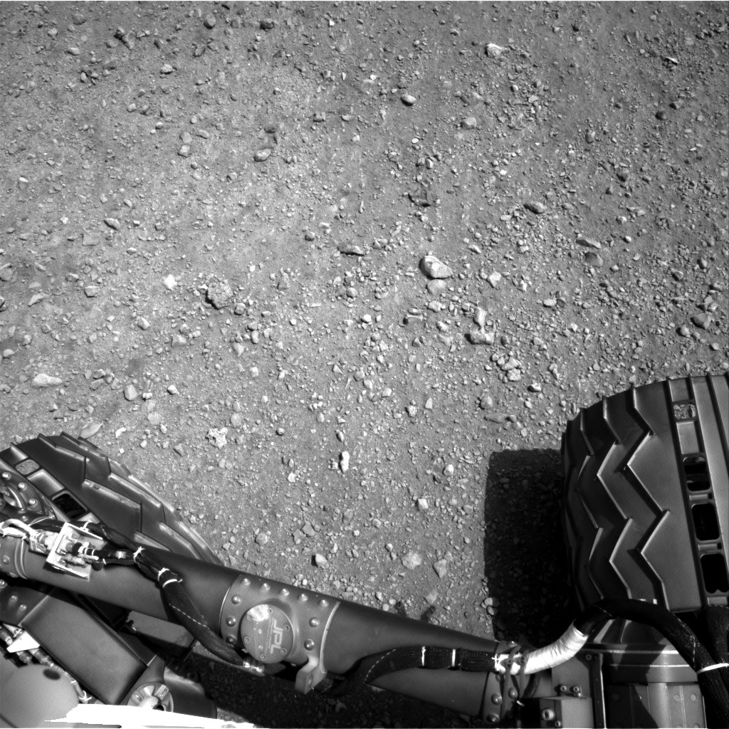 NASA's Mars rover Curiosity acquired this image using its Right Navigation Cameras (Navcams) on Sol 13