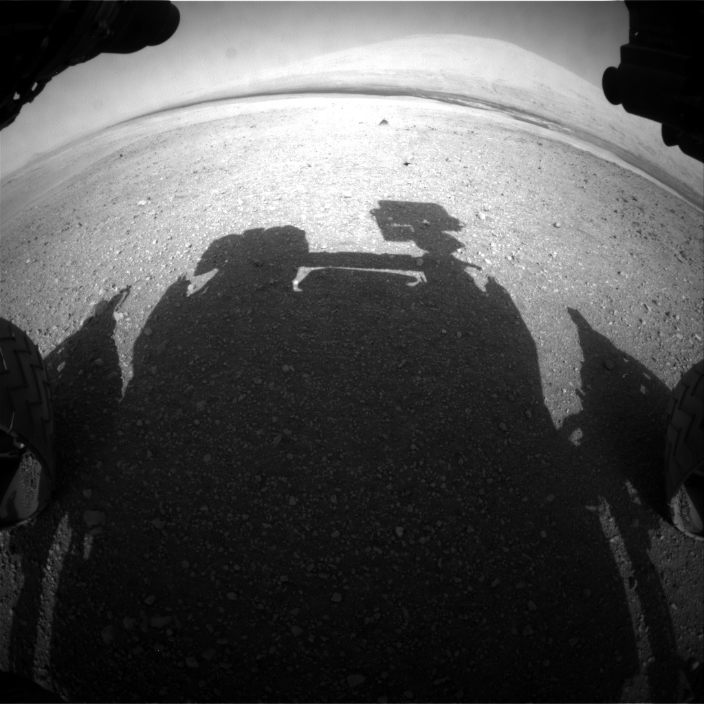 NASA's Mars rover Curiosity acquired this image using its Front Hazard Avoidance Cameras (Front Hazcams) on Sol 14
