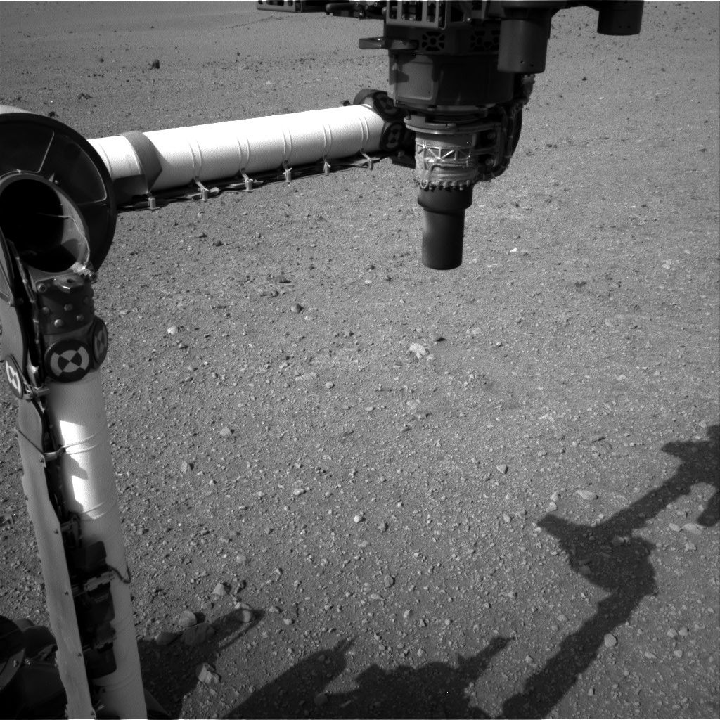 NASA's Mars rover Curiosity acquired this image using its Right Navigation Cameras (Navcams) on Sol 14