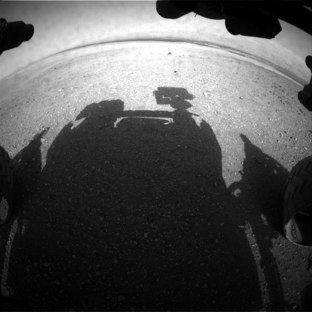 NASA's Mars rover Curiosity acquired this image using its Front Hazard Avoidance Cameras (Front Hazcams) on Sol 15