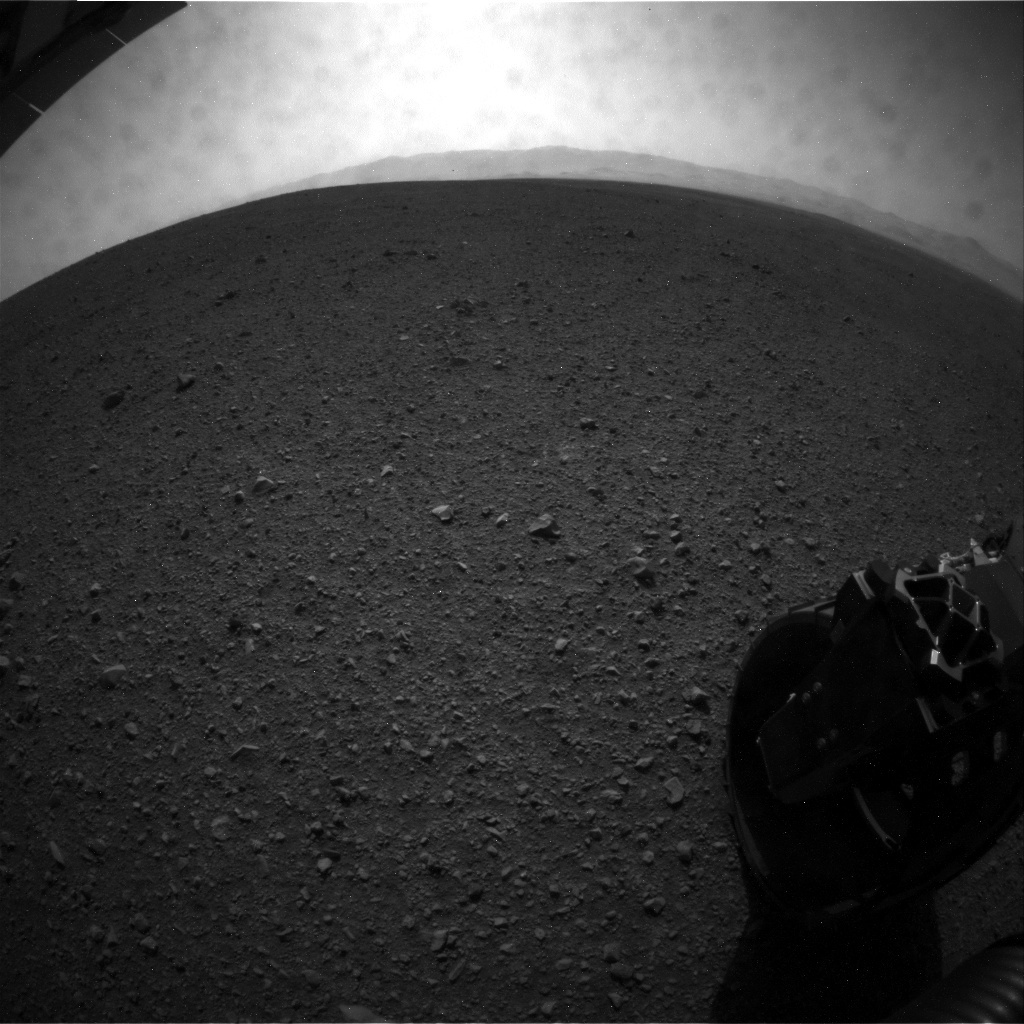 NASA's Mars rover Curiosity acquired this image using its Rear Hazard Avoidance Cameras (Rear Hazcams) on Sol 15