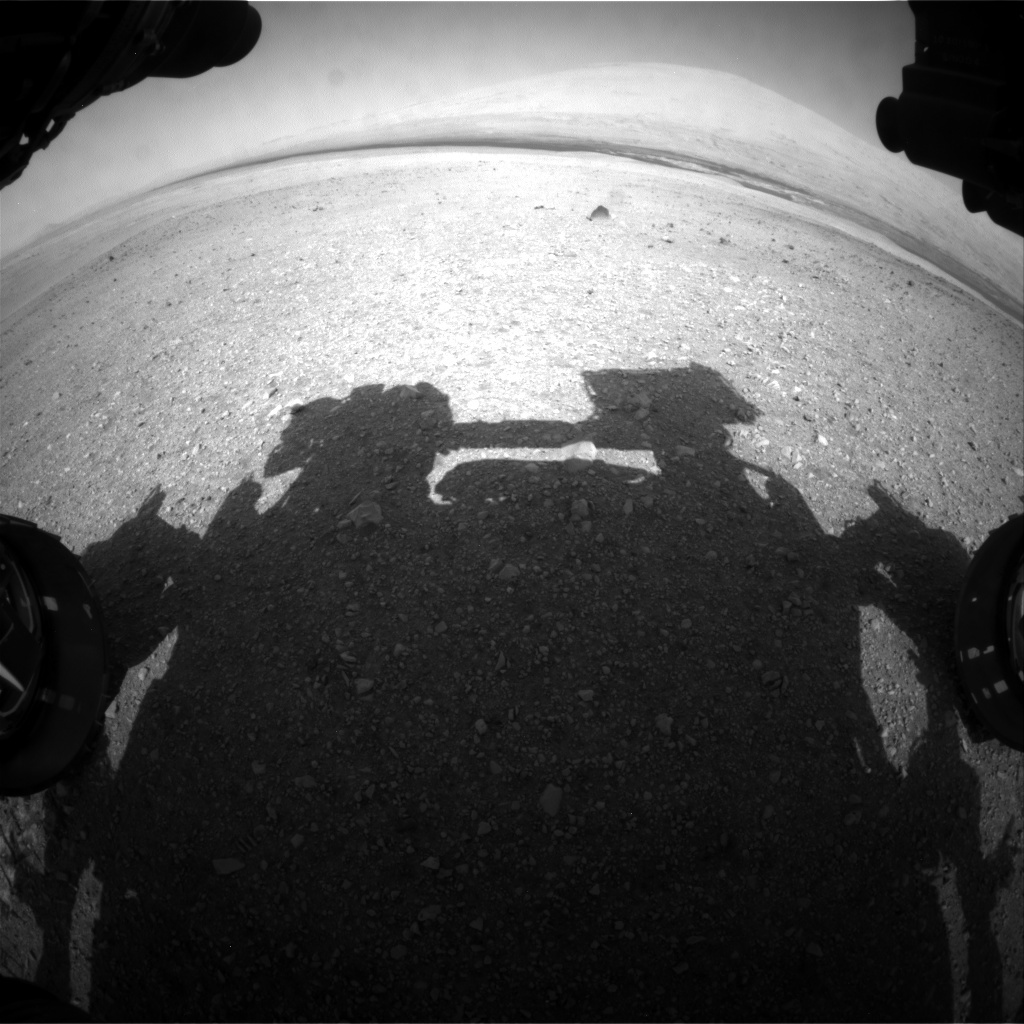 NASA's Mars rover Curiosity acquired this image using its Front Hazard Avoidance Cameras (Front Hazcams) on Sol 16