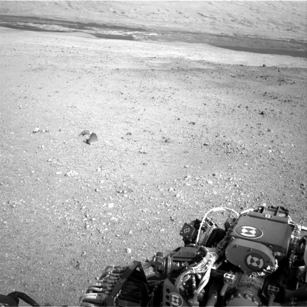 NASA's Mars rover Curiosity acquired this image using its Left Navigation Camera (Navcams) on Sol 16