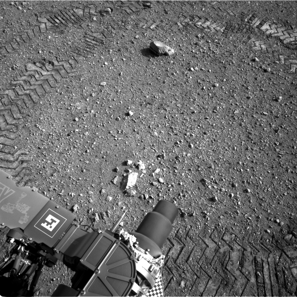 NASA's Mars rover Curiosity acquired this image using its Right Navigation Cameras (Navcams) on Sol 16