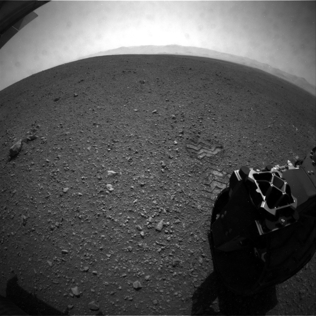 NASA's Mars rover Curiosity acquired this image using its Rear Hazard Avoidance Cameras (Rear Hazcams) on Sol 16