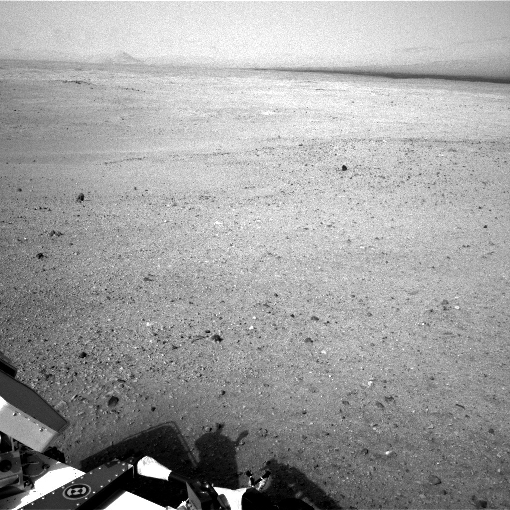 NASA's Mars rover Curiosity acquired this image using its Right Navigation Cameras (Navcams) on Sol 21