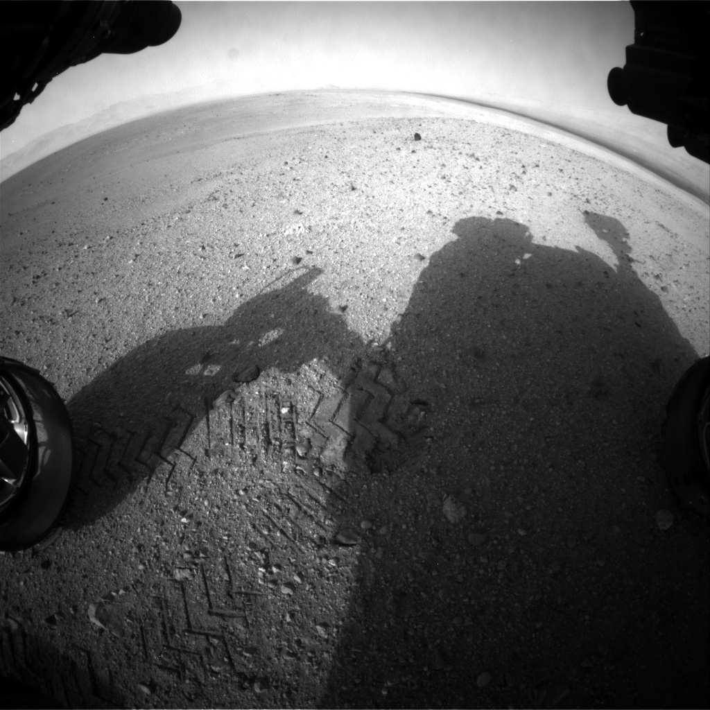 NASA's Mars rover Curiosity acquired this image using its Front Hazard Avoidance Cameras (Front Hazcams) on Sol 22