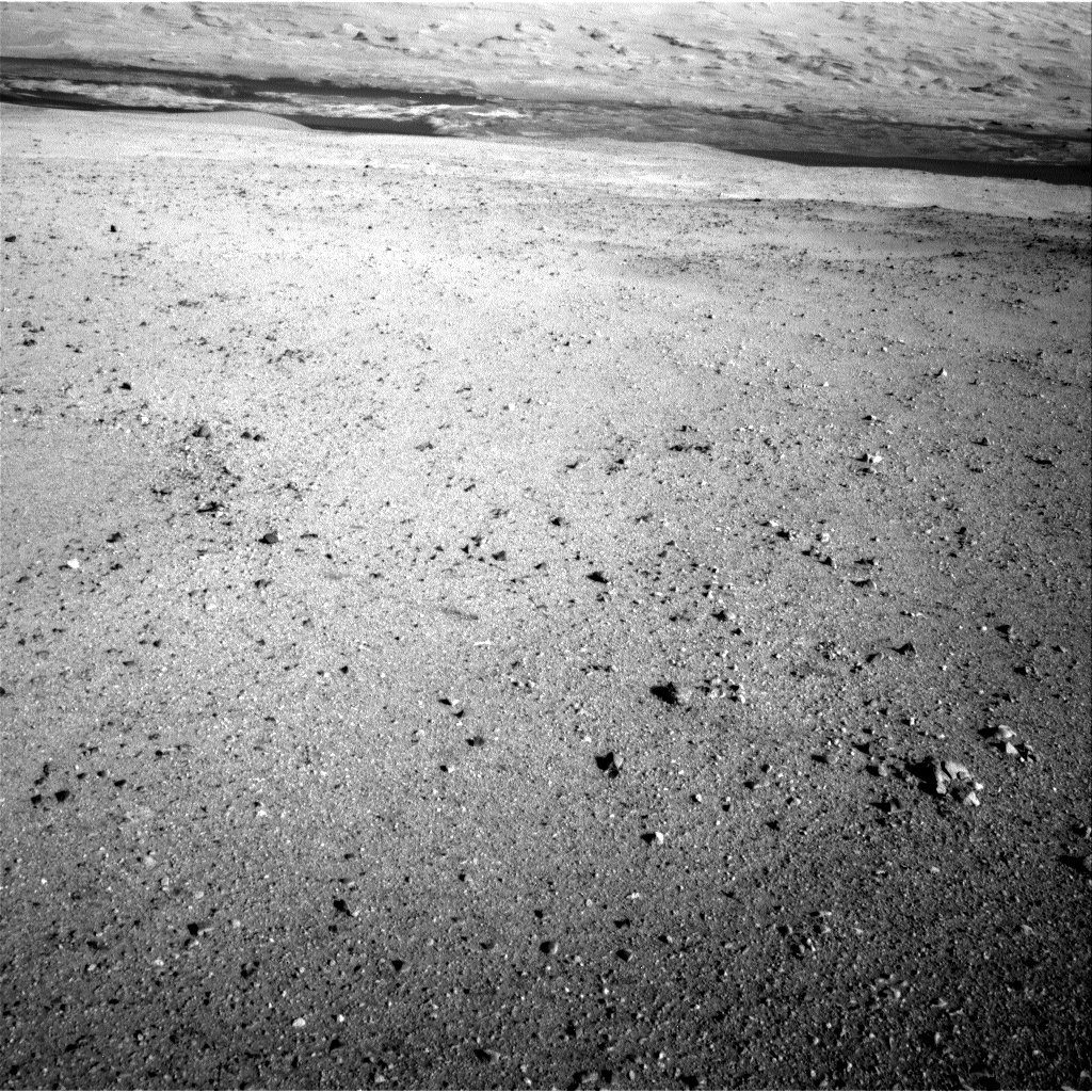 NASA's Mars rover Curiosity acquired this image using its Left Navigation Camera (Navcams) on Sol 22