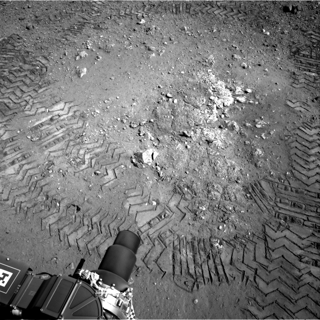 NASA's Mars rover Curiosity acquired this image using its Right Navigation Cameras (Navcams) on Sol 22
