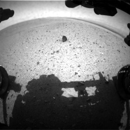 NASA's Mars rover Curiosity acquired this image using its Front Hazard Avoidance Cameras (Front Hazcams) on Sol 24