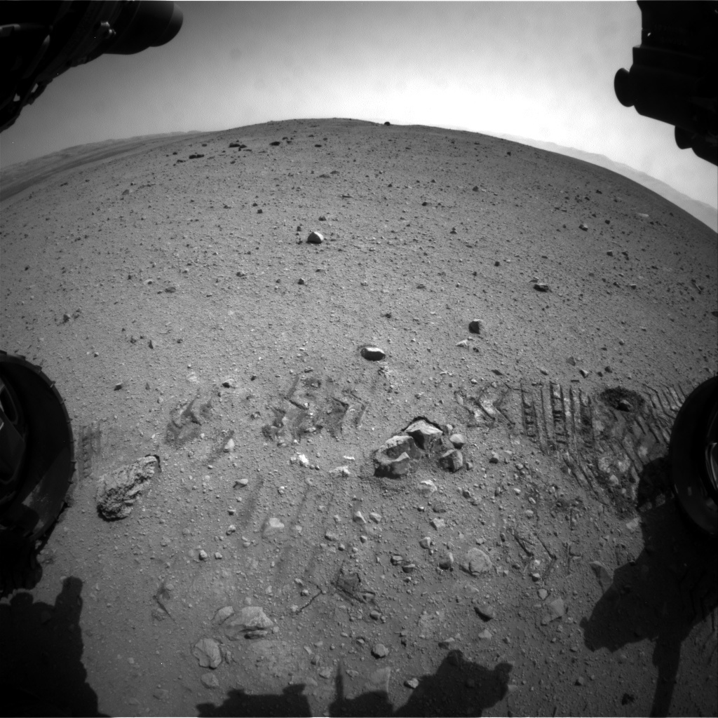 NASA's Mars rover Curiosity acquired this image using its Front Hazard Avoidance Cameras (Front Hazcams) on Sol 29