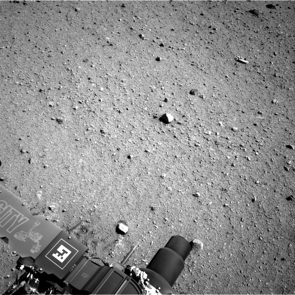 NASA's Mars rover Curiosity acquired this image using its Right Navigation Cameras (Navcams) on Sol 29