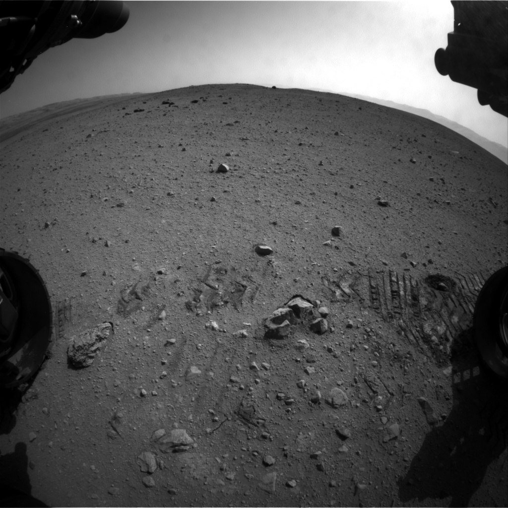 NASA's Mars rover Curiosity acquired this image using its Front Hazard Avoidance Cameras (Front Hazcams) on Sol 30