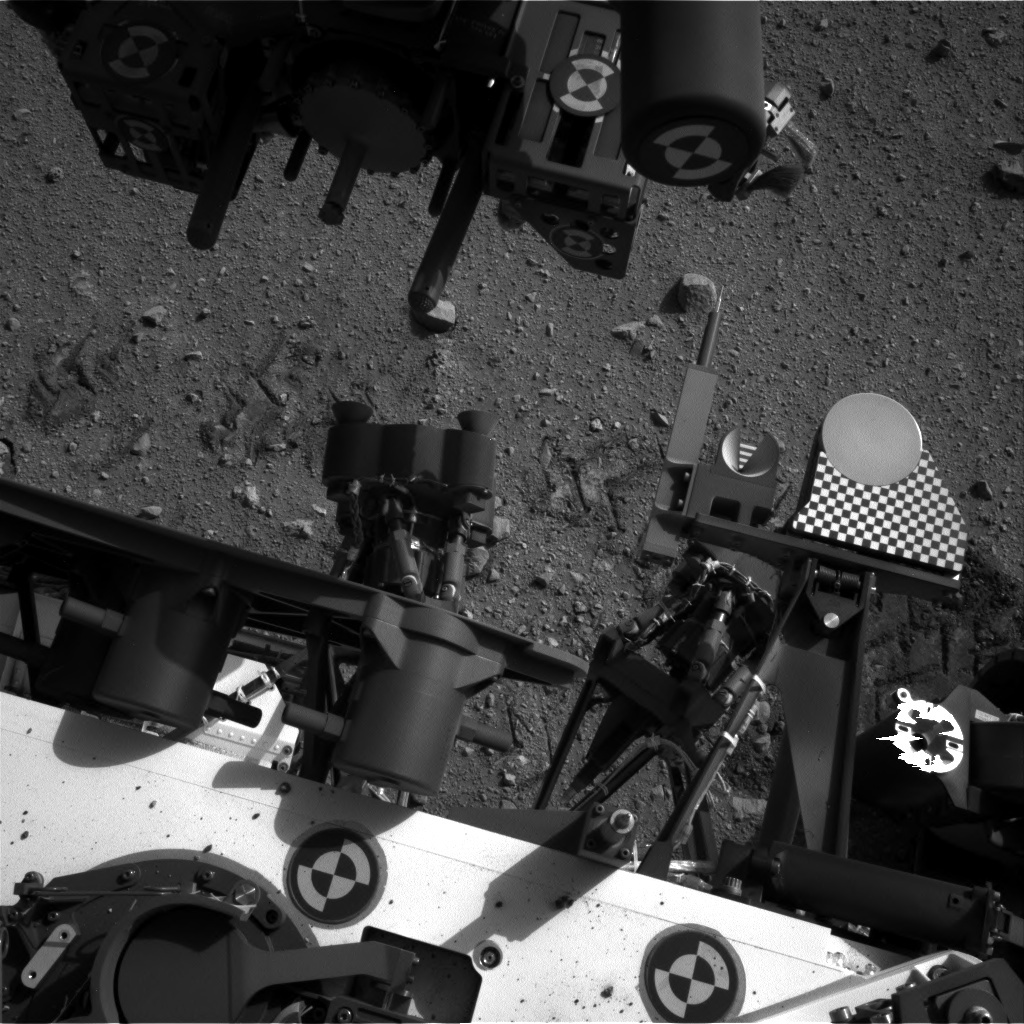 NASA's Mars rover Curiosity acquired this image using its Left Navigation Camera (Navcams) on Sol 36