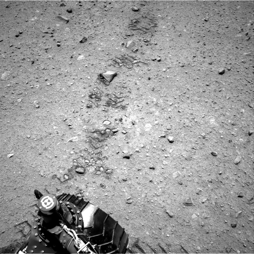 NASA's Mars rover Curiosity acquired this image using its Right Navigation Cameras (Navcams) on Sol 36
