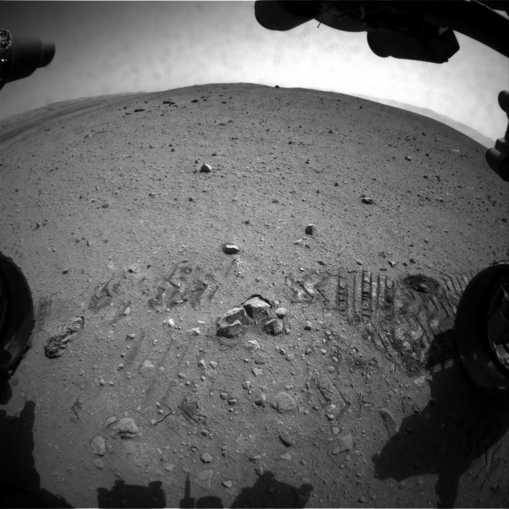NASA's Mars rover Curiosity acquired this image using its Front Hazard Avoidance Cameras (Front Hazcams) on Sol 37