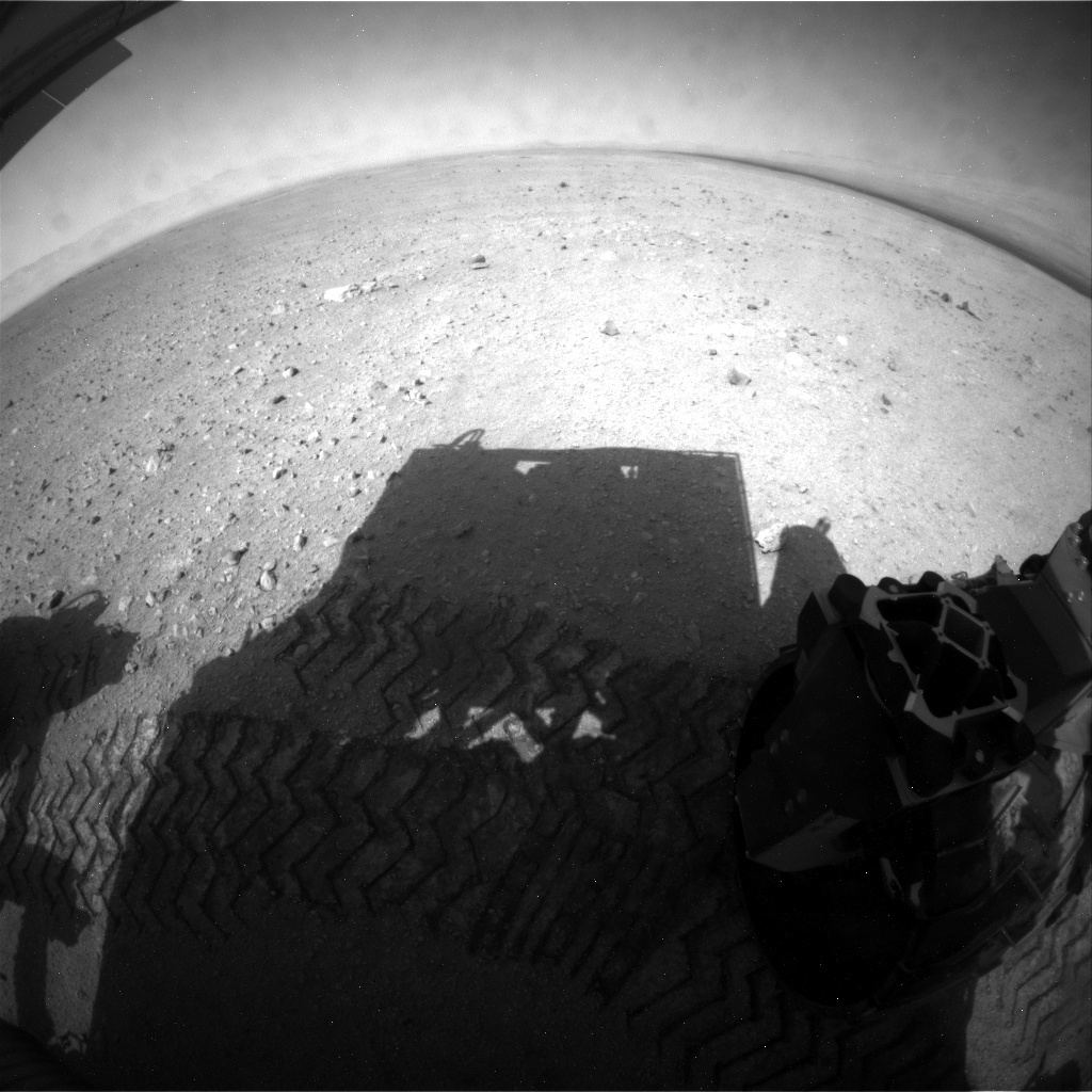 NASA's Mars rover Curiosity acquired this image using its Rear Hazard Avoidance Cameras (Rear Hazcams) on Sol 37