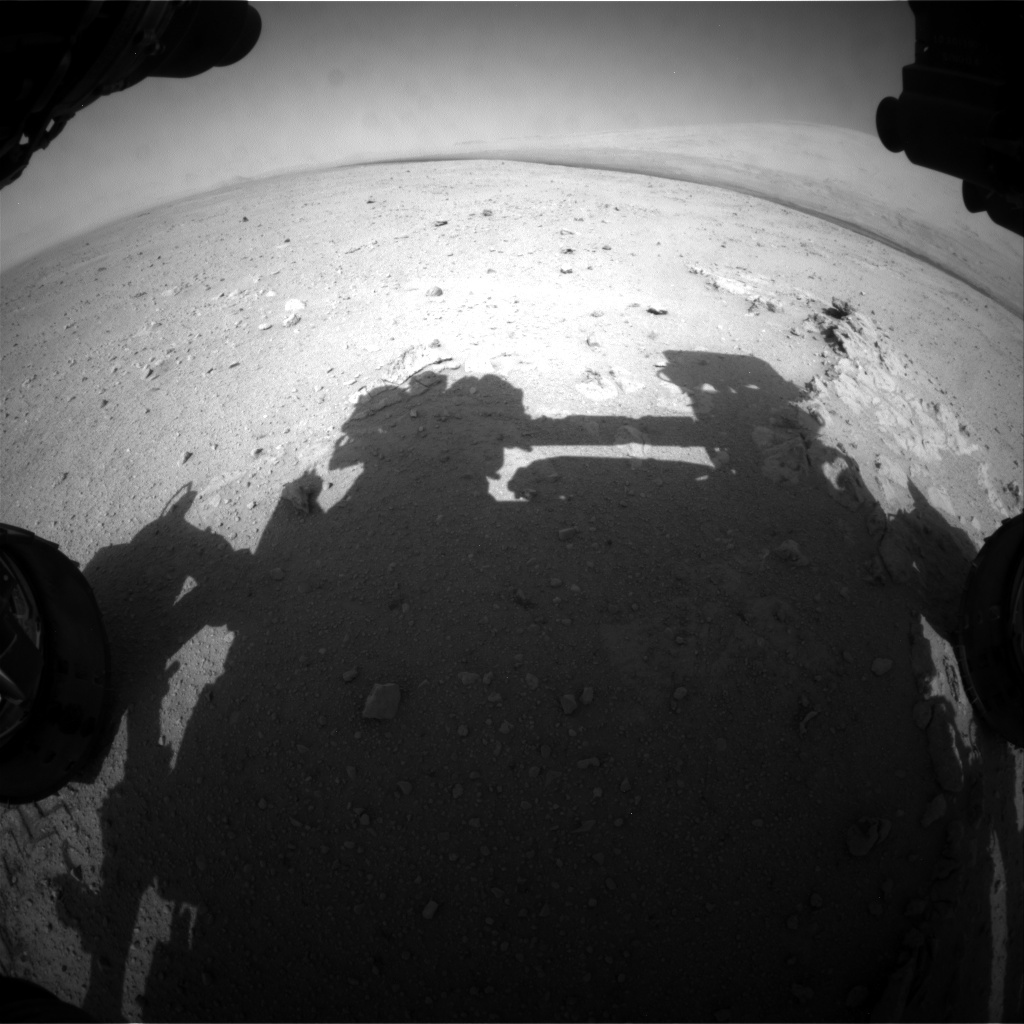 NASA's Mars rover Curiosity acquired this image using its Front Hazard Avoidance Cameras (Front Hazcams) on Sol 38
