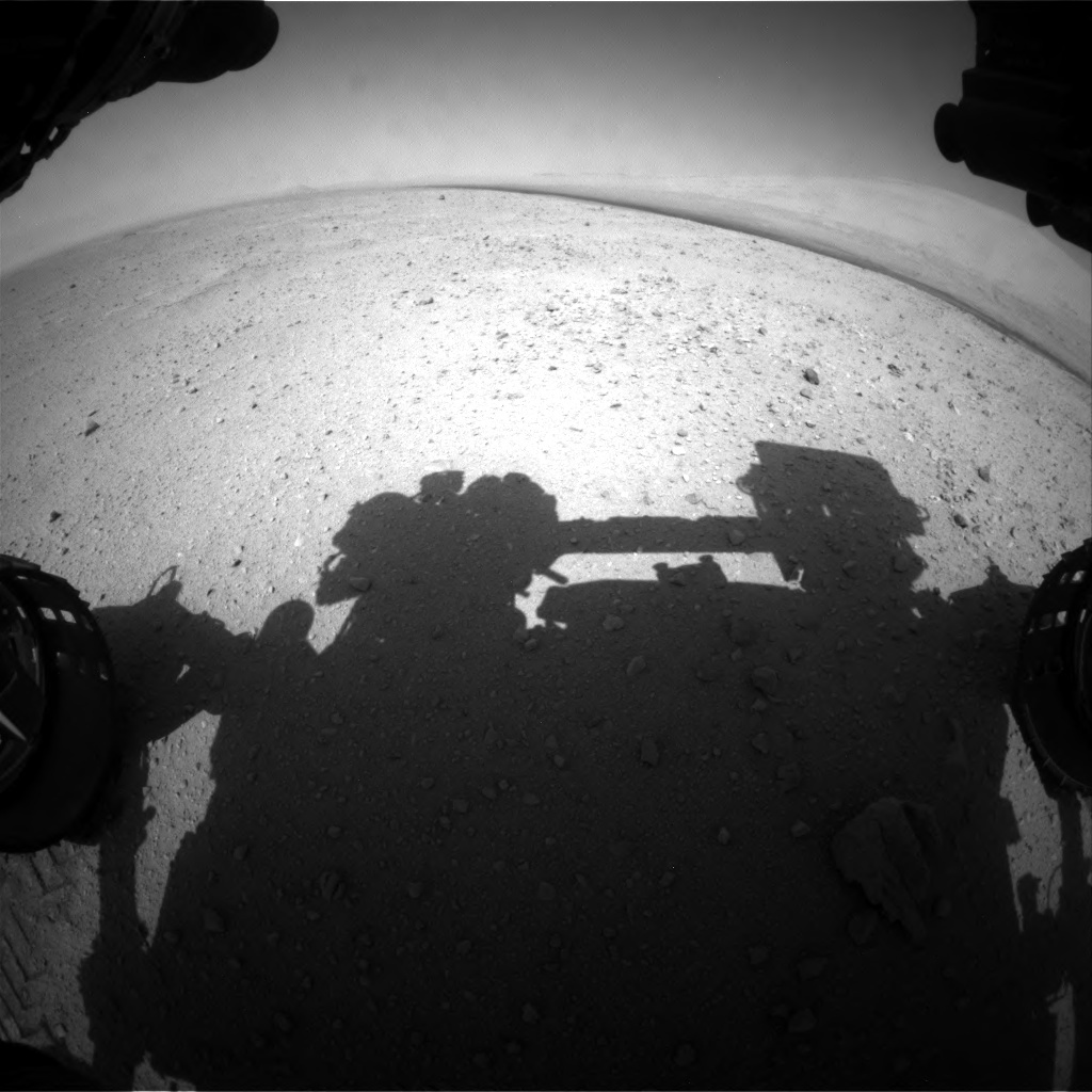 NASA's Mars rover Curiosity acquired this image using its Front Hazard Avoidance Cameras (Front Hazcams) on Sol 39