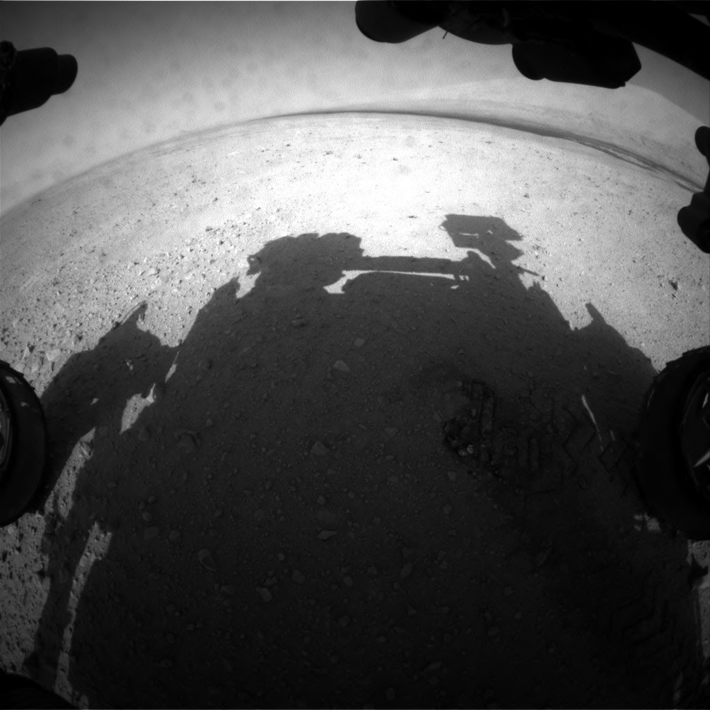 NASA's Mars rover Curiosity acquired this image using its Front Hazard Avoidance Cameras (Front Hazcams) on Sol 40