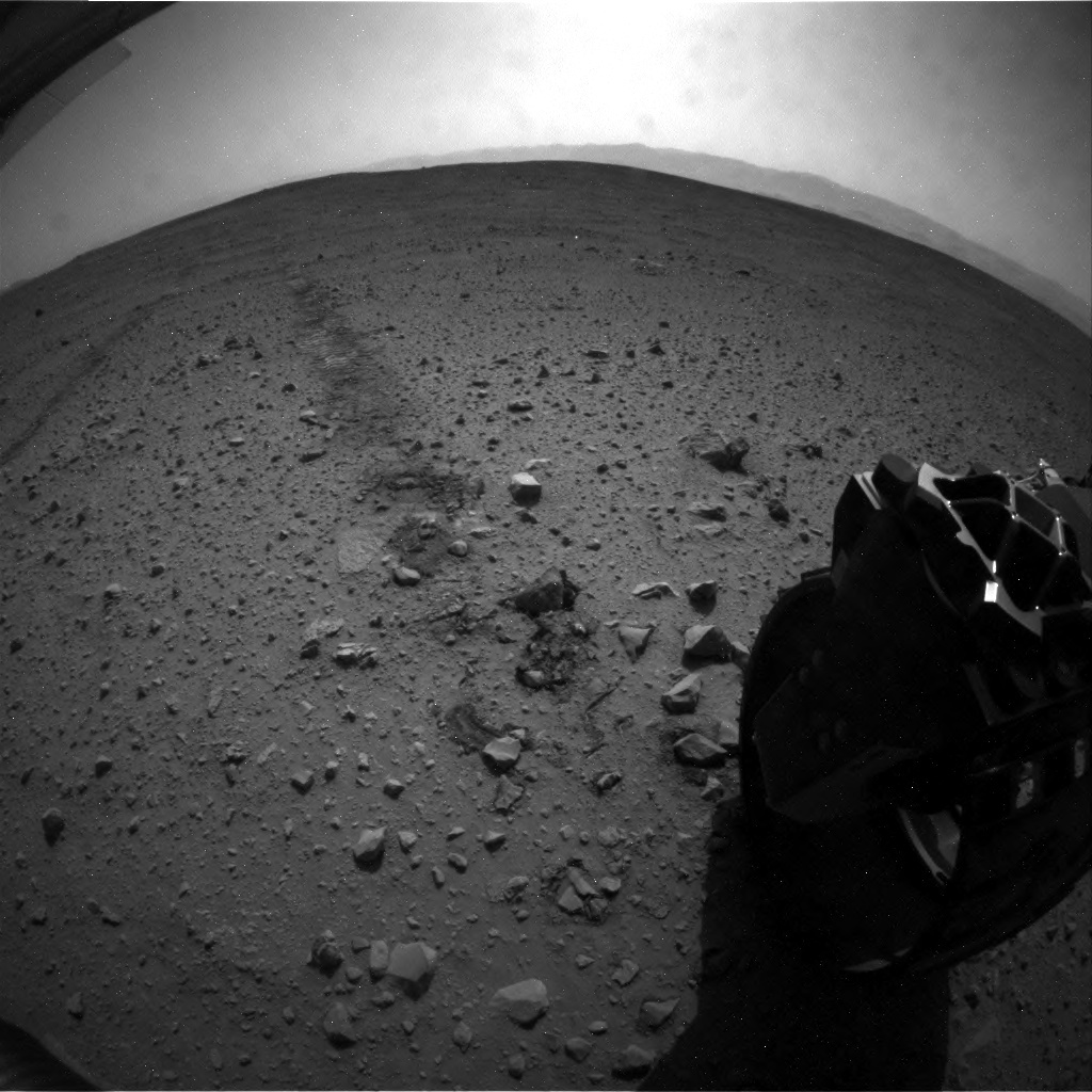 NASA's Mars rover Curiosity acquired this image using its Rear Hazard Avoidance Cameras (Rear Hazcams) on Sol 40
