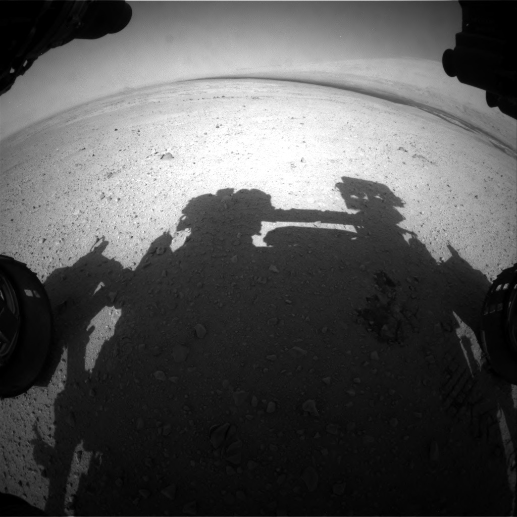 NASA's Mars rover Curiosity acquired this image using its Front Hazard Avoidance Cameras (Front Hazcams) on Sol 41
