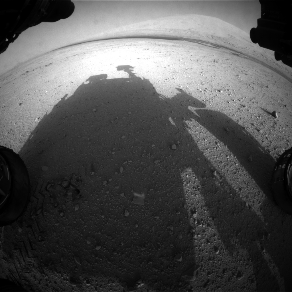 NASA's Mars rover Curiosity acquired this image using its Front Hazard Avoidance Cameras (Front Hazcams) on Sol 42