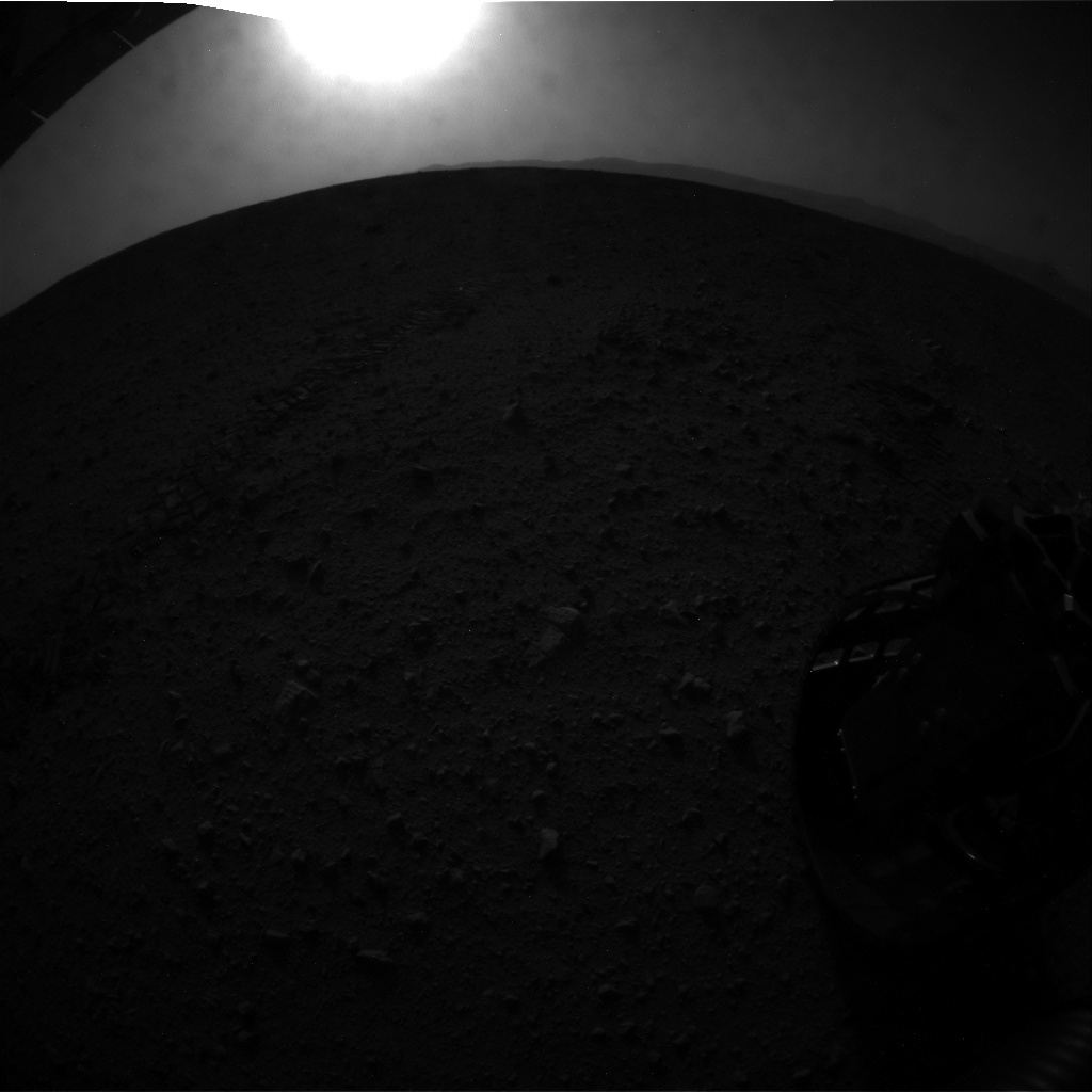 NASA's Mars rover Curiosity acquired this image using its Rear Hazard Avoidance Cameras (Rear Hazcams) on Sol 42