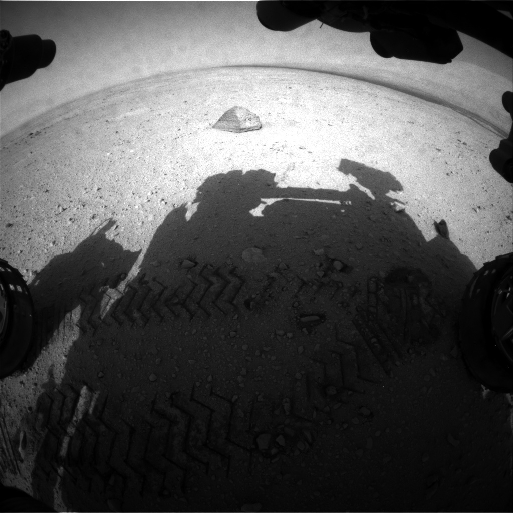 NASA's Mars rover Curiosity acquired this image using its Front Hazard Avoidance Cameras (Front Hazcams) on Sol 43