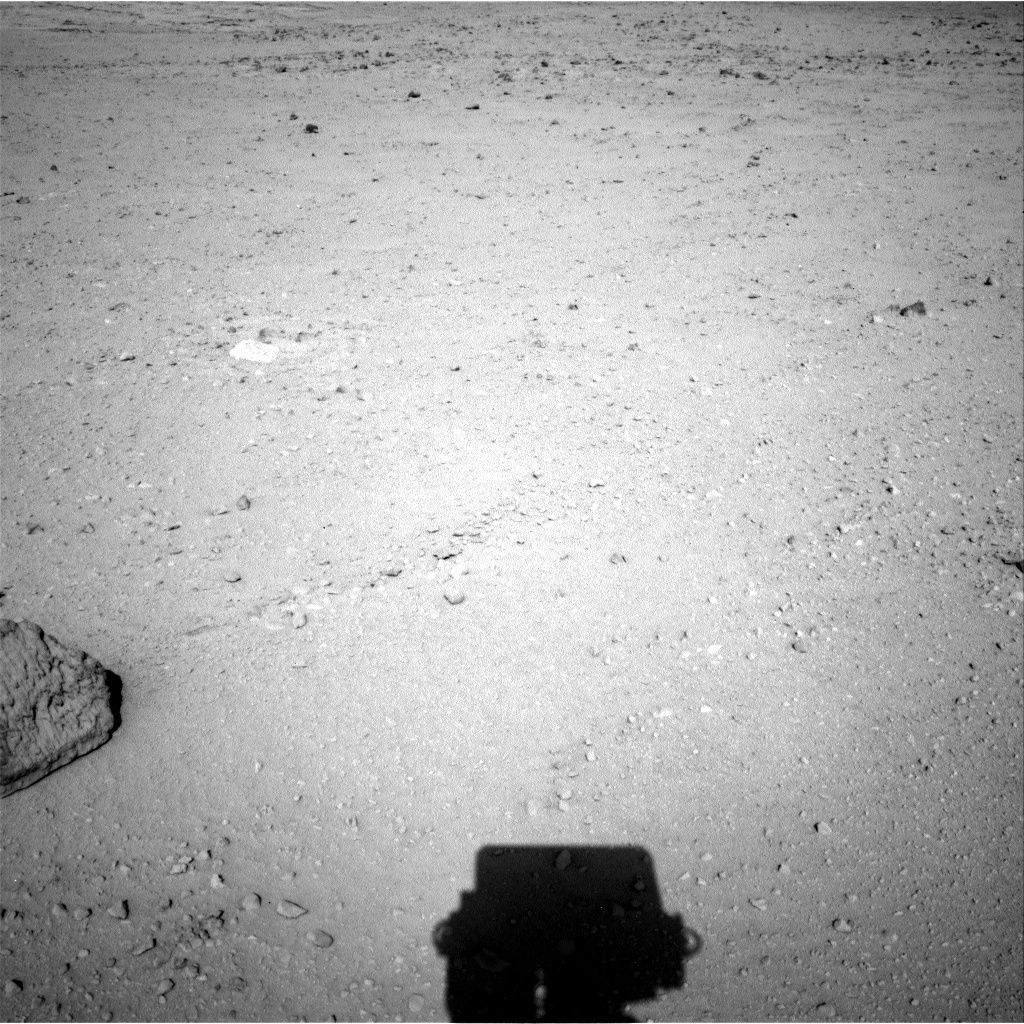 NASA's Mars rover Curiosity acquired this image using its Left Navigation Camera (Navcams) on Sol 43