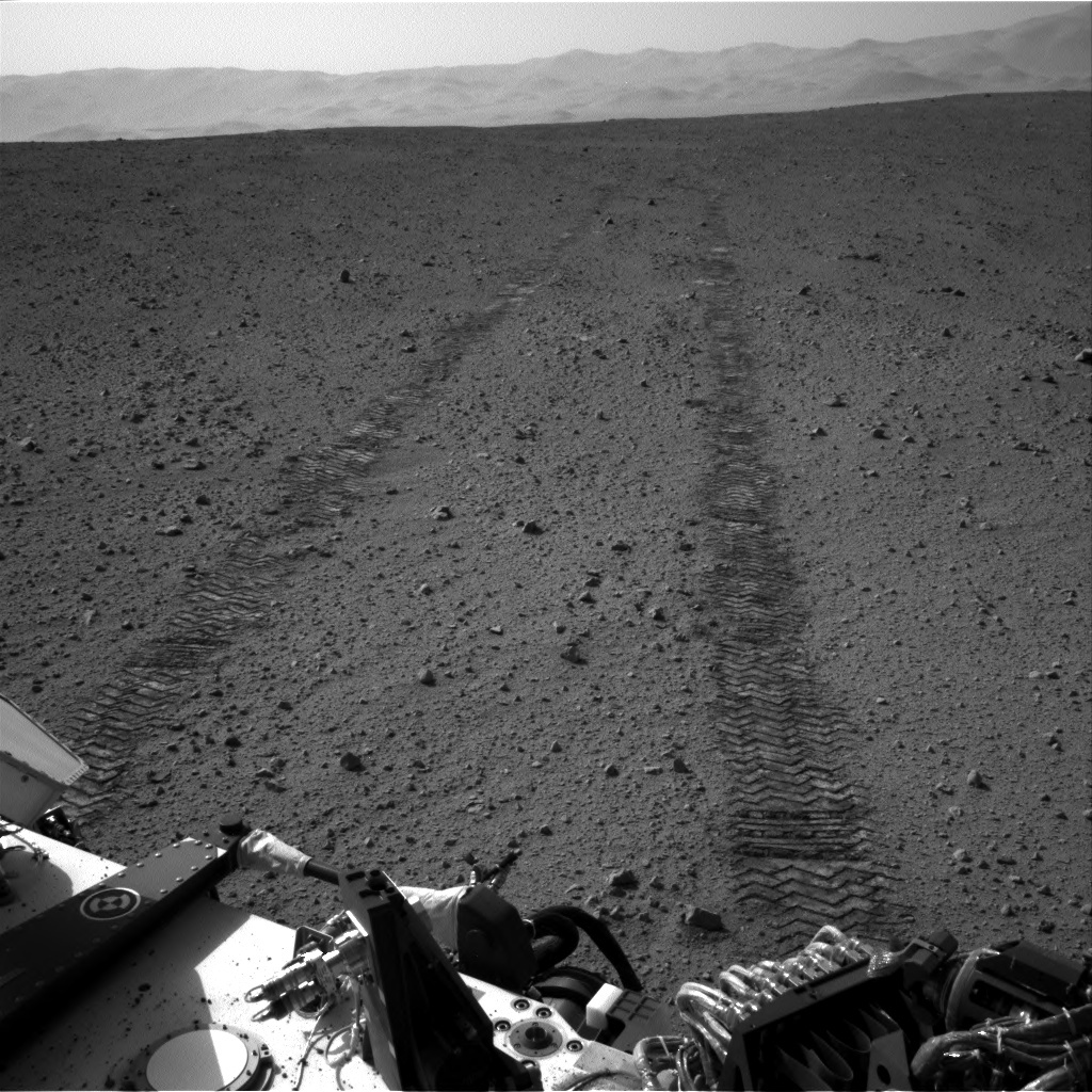 NASA's Mars rover Curiosity acquired this image using its Right Navigation Cameras (Navcams) on Sol 43