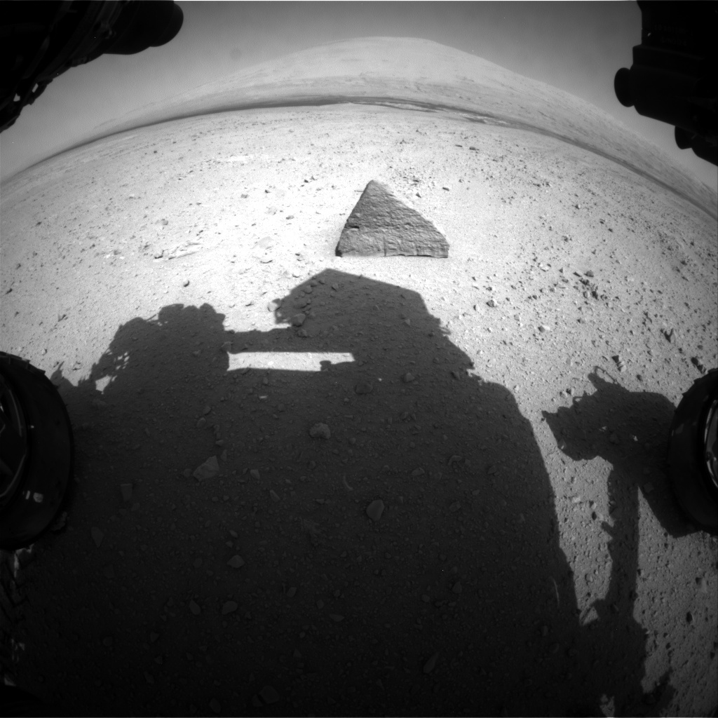 NASA's Mars rover Curiosity acquired this image using its Front Hazard Avoidance Cameras (Front Hazcams) on Sol 45