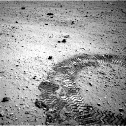 NASA's Mars rover Curiosity acquired this image using its Left Navigation Camera (Navcams) on Sol 45