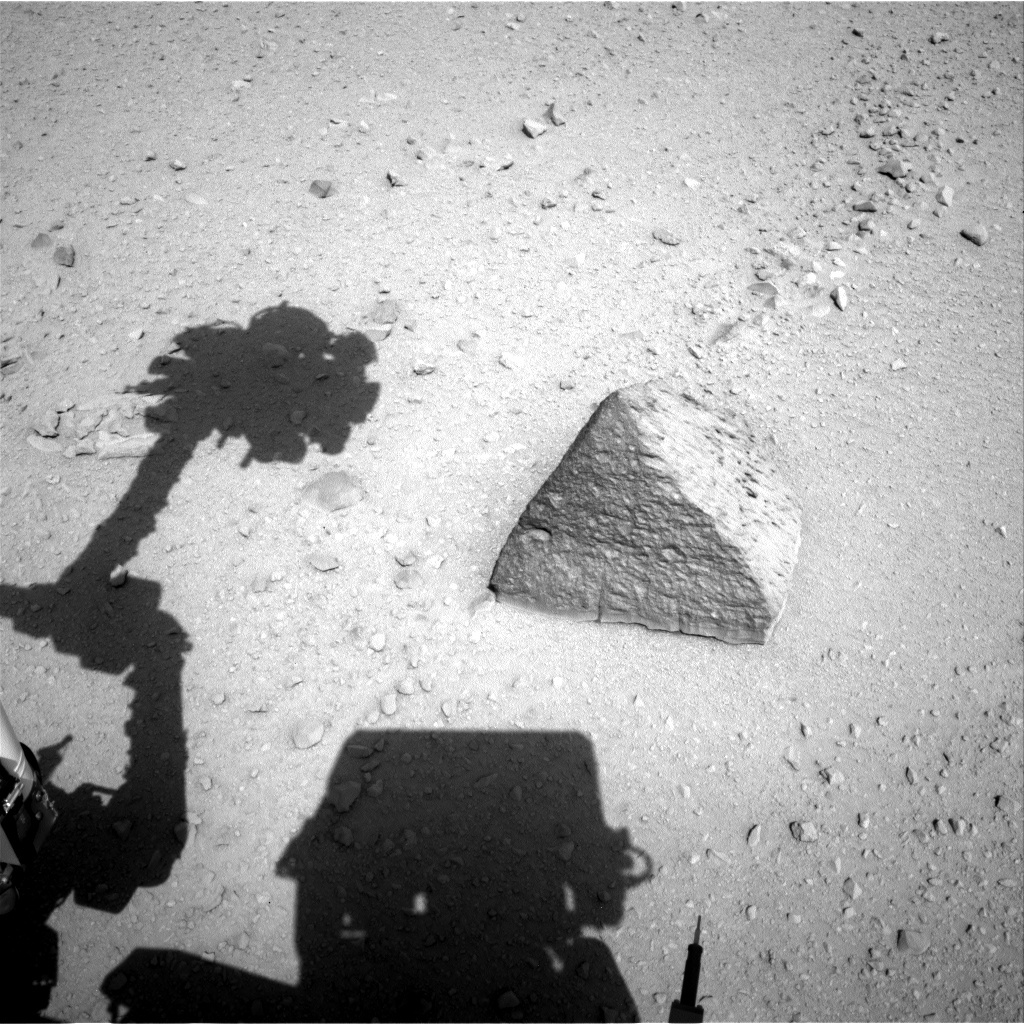 NASA's Mars rover Curiosity acquired this image using its Left Navigation Camera (Navcams) on Sol 46