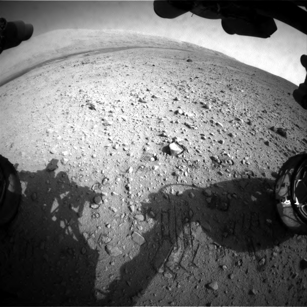 NASA's Mars rover Curiosity acquired this image using its Front Hazard Avoidance Cameras (Front Hazcams) on Sol 48