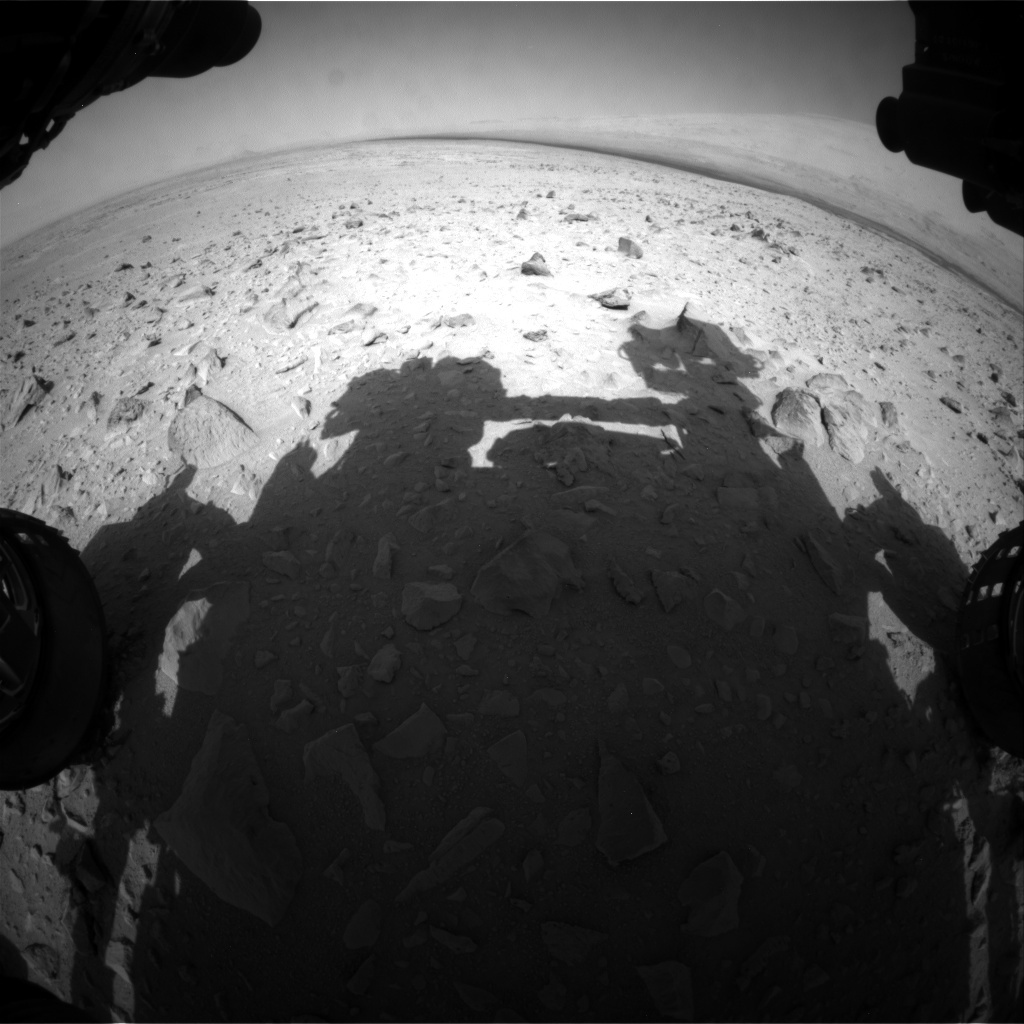 NASA's Mars rover Curiosity acquired this image using its Front Hazard Avoidance Cameras (Front Hazcams) on Sol 49